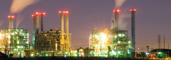 Power plant near Seal Beach in Rossmoor, CA