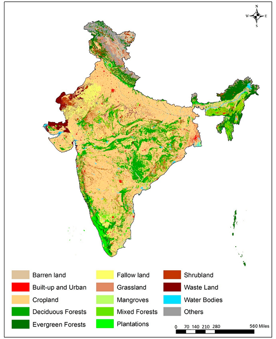Land Use And Land Cover For India ORNL DAAC News - Land use classification map us