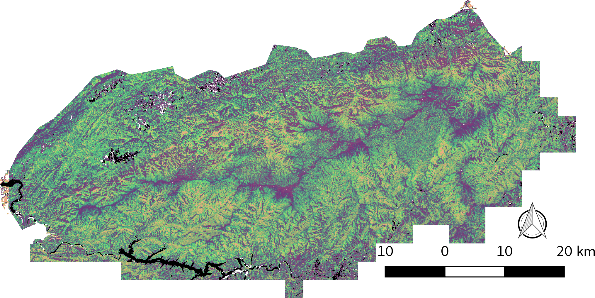 Map shows thirty unique vegetation canopy structure classes identified within the Great Smoky Mountain National Park  sc 1 st  ORNL DAAC News & Vegetation Structure in the Great Smoky Mountains | ORNL DAAC News