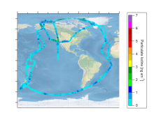 Map of flight lines to measure particulate iodine.