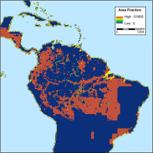Map of land use transition in South America.