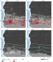 Tree density figures for the West African Sahara and Sahel.