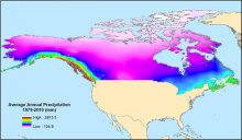 Average annual precipitation.