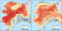 Annual Average Maximum Temperature for Alaska