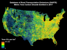 DARTE provides annual estimates of on-road CO2 emissions