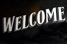 "Word art of ""Welcome"""