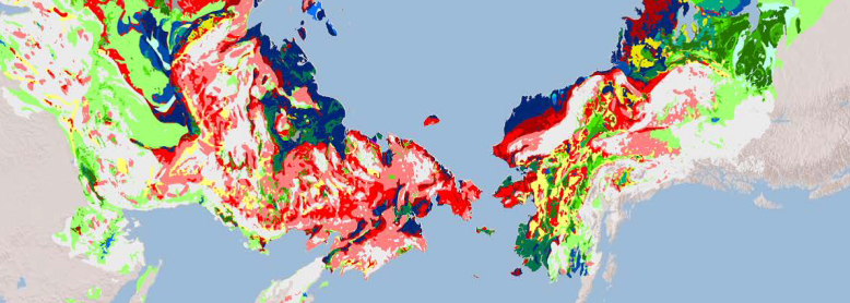 Map of Thermokarst Landscapes in Siberia and Alaska